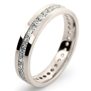 white gold diamond wedding ring elegant and understated to go with ridiculous diamond - White Gold Wedding Ring