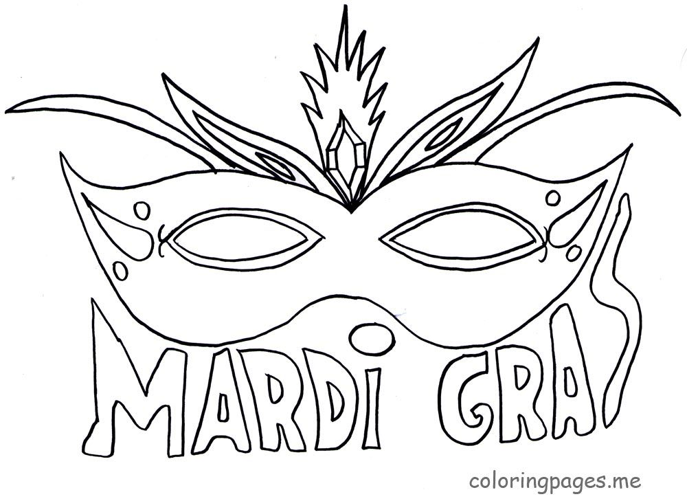 Start of a Zentangle or doodle Finish the Mardi Gras mask Draw