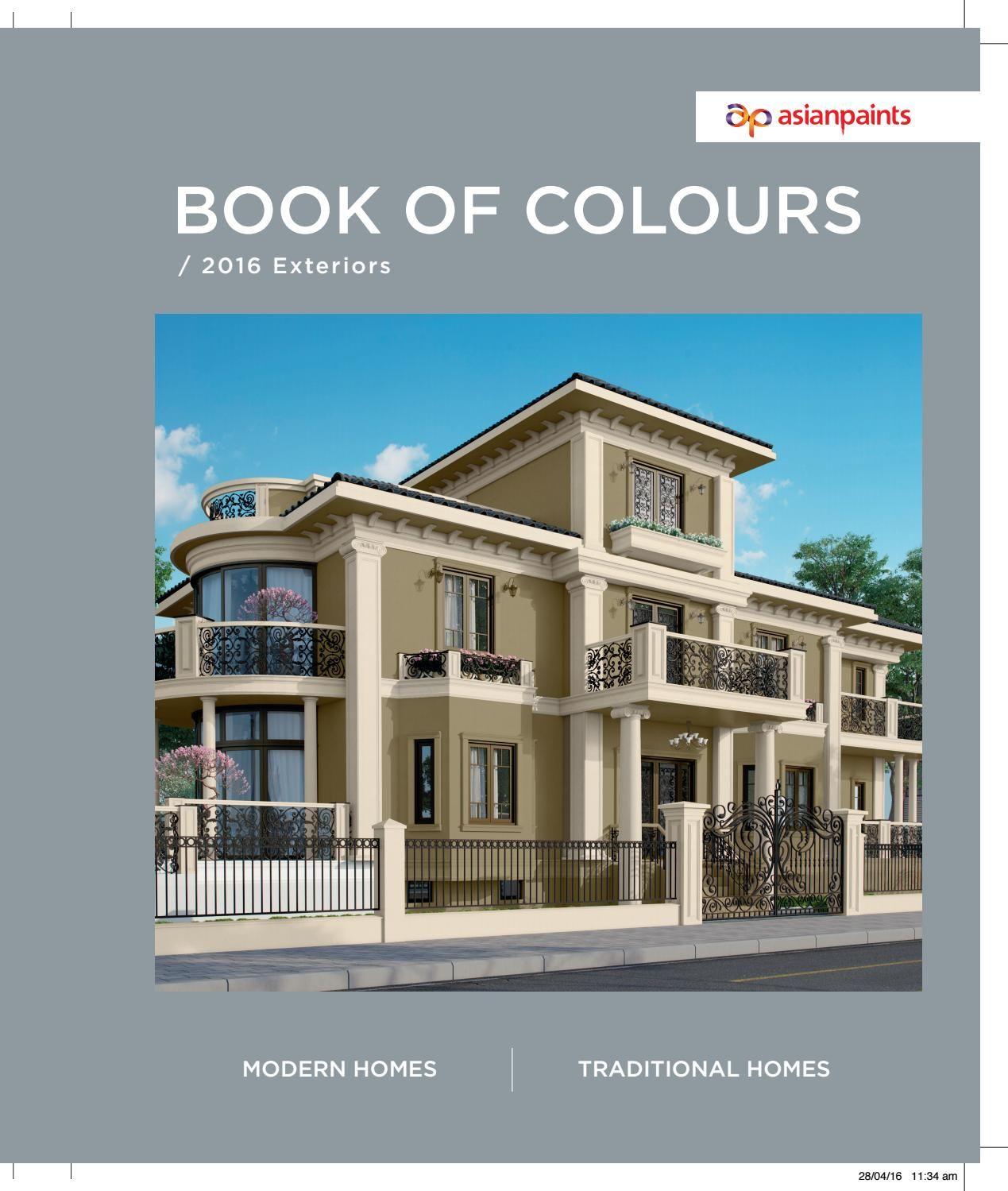 Book Of Colours Final Asian Paints Asian Paints Colour Shades Exterior Color Combinations