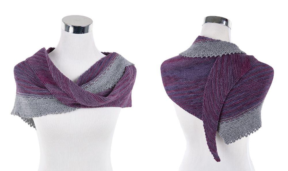 платок с ажурной кромкой схема вязания спицами вяжем косынки на