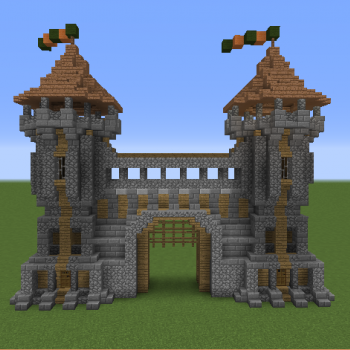Me val Gatehouse 2 Blueprints for MineCraft Houses Castles Towers and more