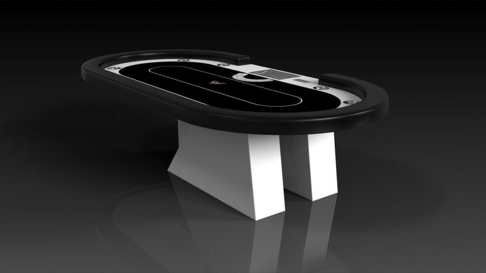 Stilt Poker White With Black The Stilt Poker Table Can Be