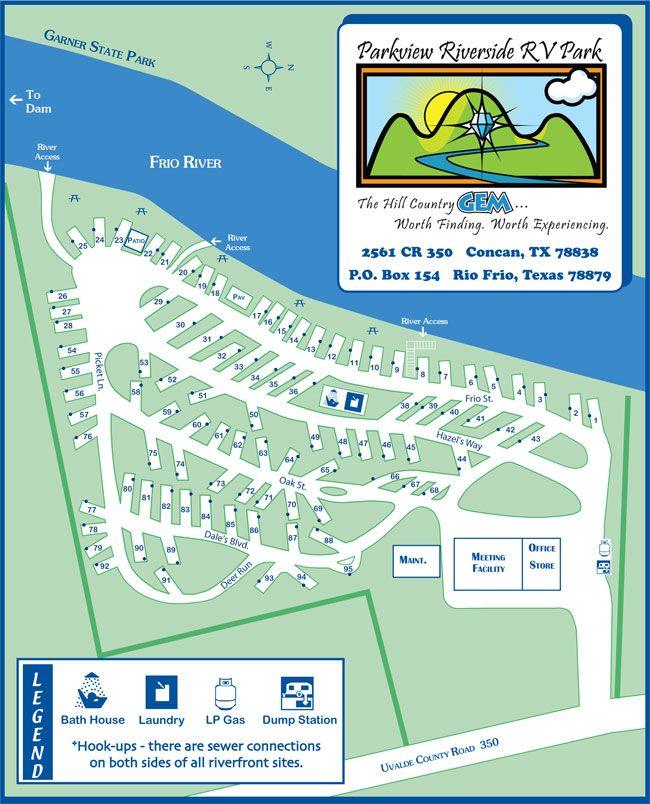 Garner State Park Map