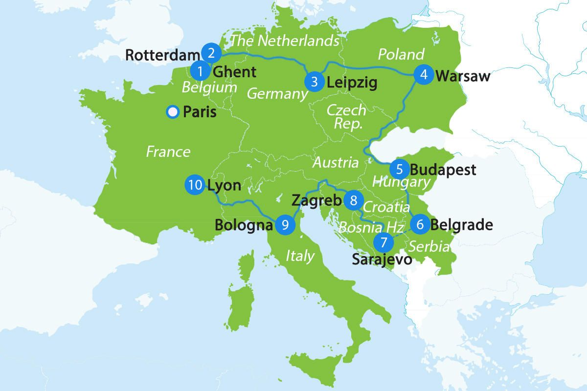 1 Month In Europe The Alternative Tour Europe Travel Europe Itineraries Europe Map