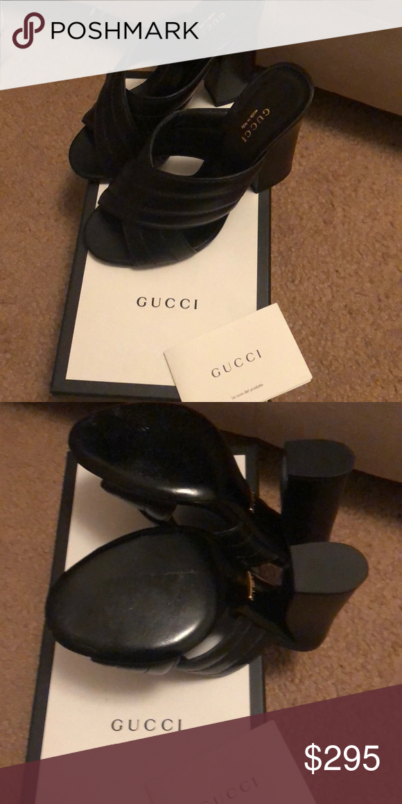 98846a81cd6cd Gucci Sandals Betis Glamour Nero (Black) Gucci Sandals Size 38 ...