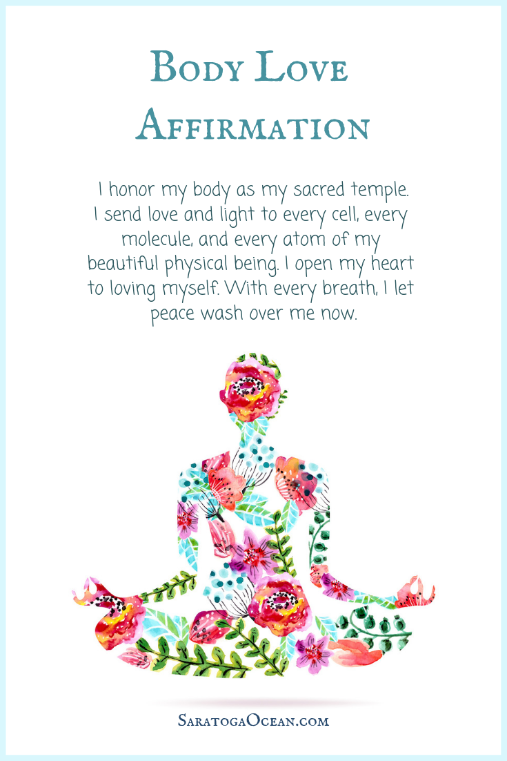 Here is an affirmation to help you nurture self love and love for your body. | Love affirmations, Positive affirmations quotes, Affirmations