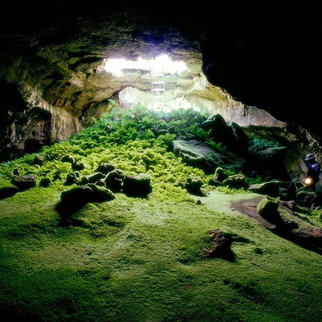 Lava Tube Cave Tulelake, California. Lava beds national