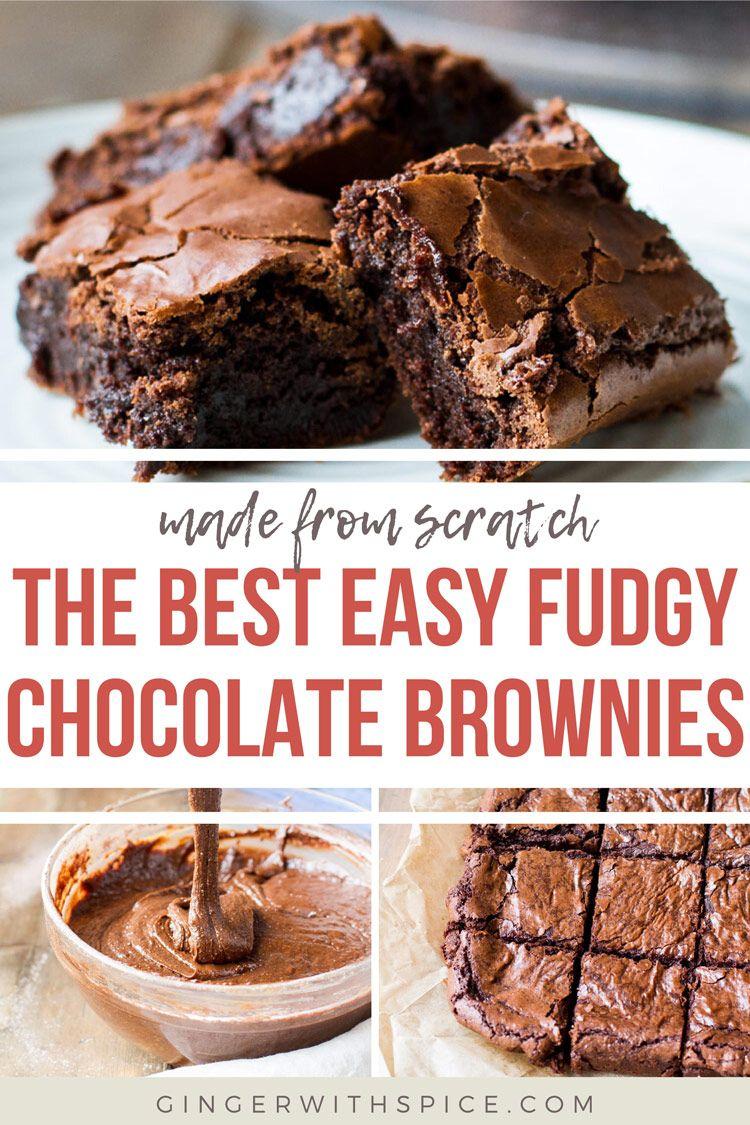 Classic Dark Chocolate Brownies