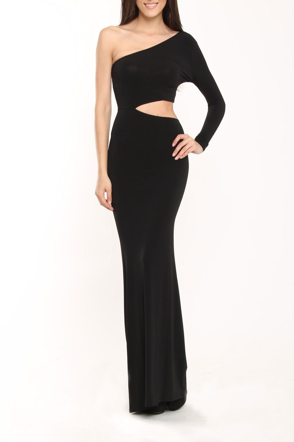 Issue ny long cut out dress in black beyond the rack dresses