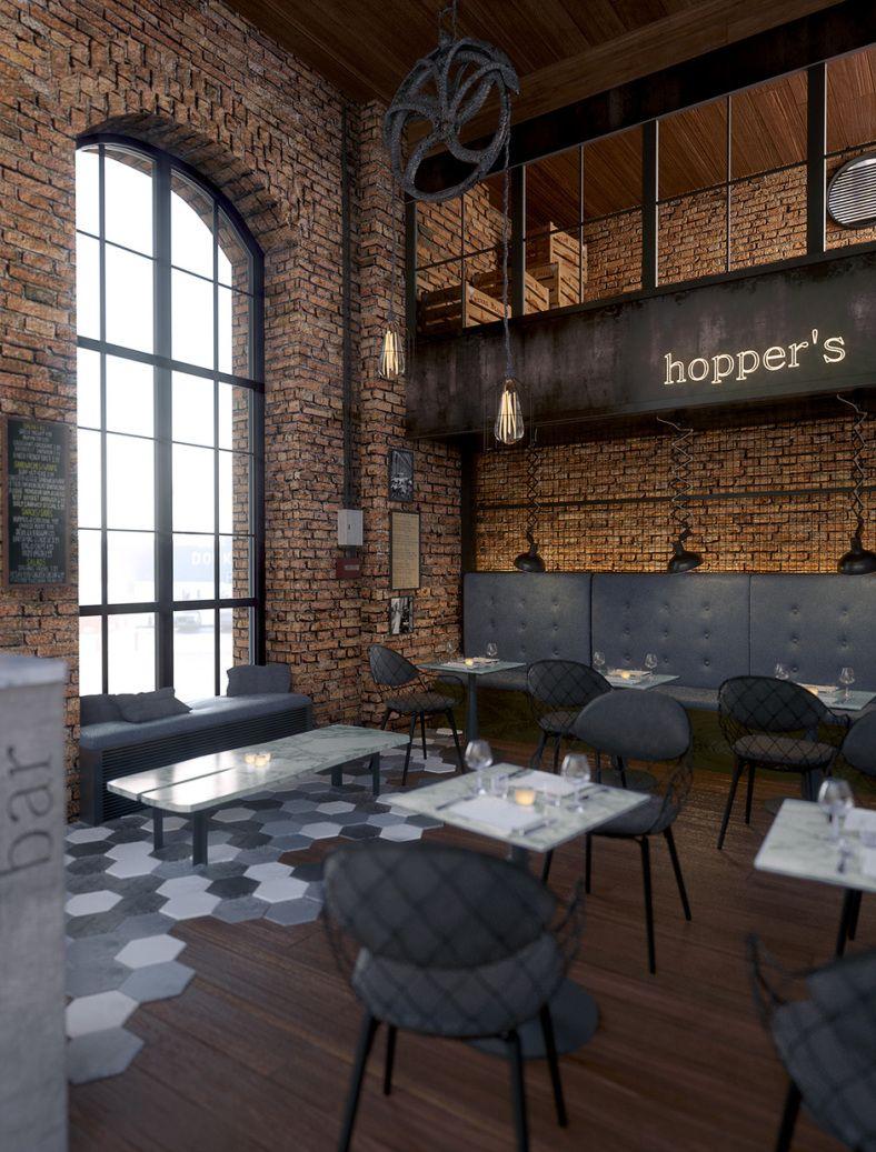 Photo Of The Day Industrial Restaurant Cafe Interior Design Restaurant Design
