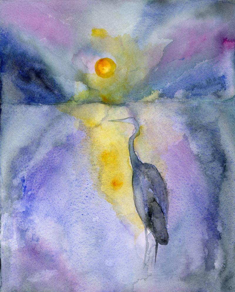 Love This!    Heron Awake Signed, Limited Edition Print