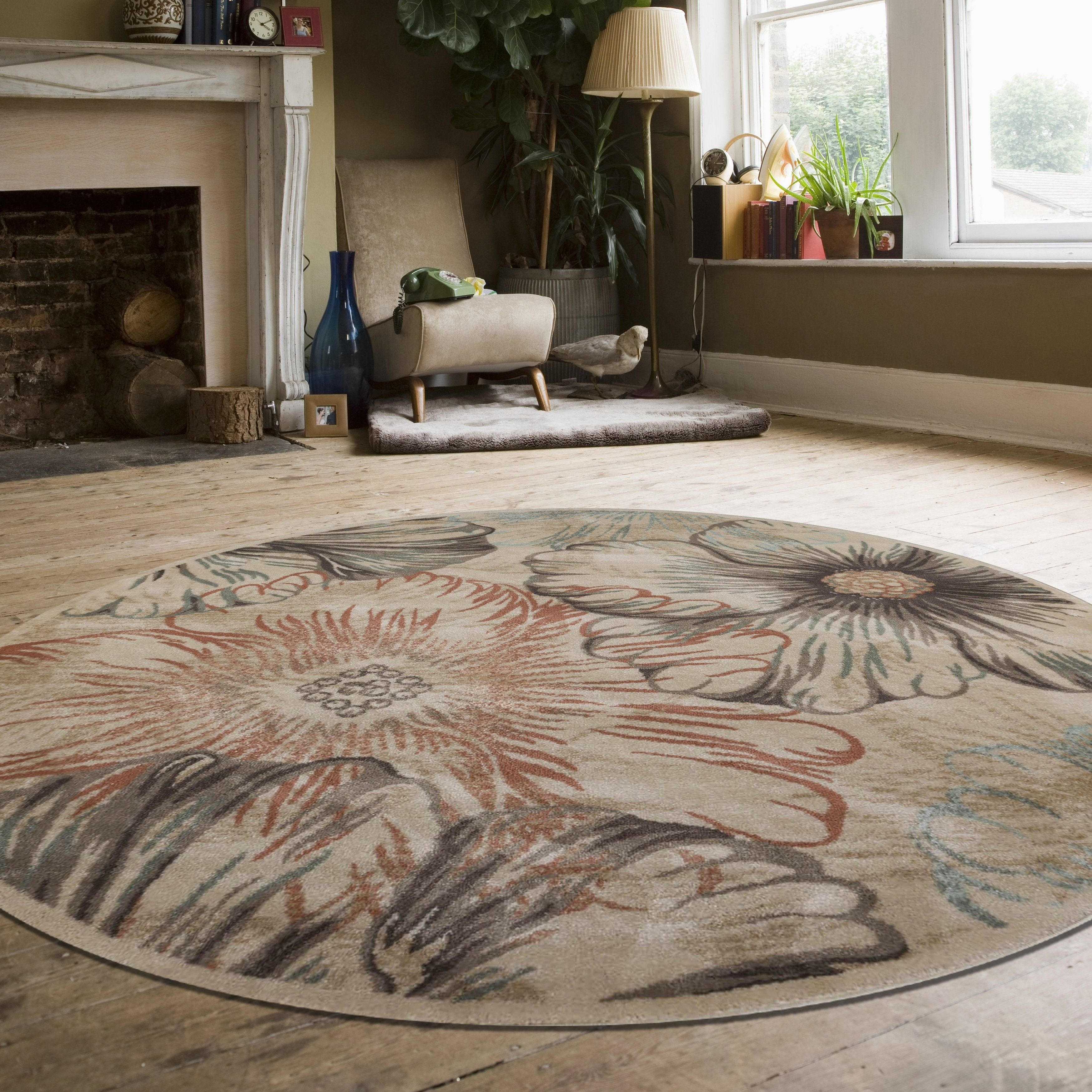Gallina Panel Area Rug 5 3 X 5 3 Ivory Admire Home Living