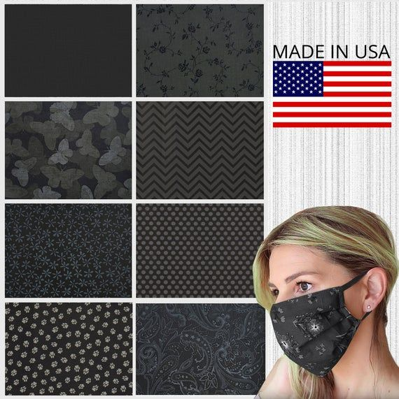 Photo of Choice of Fabric – Cotton Face Mask Washable Made in USA,  Adult Face Mask Women…