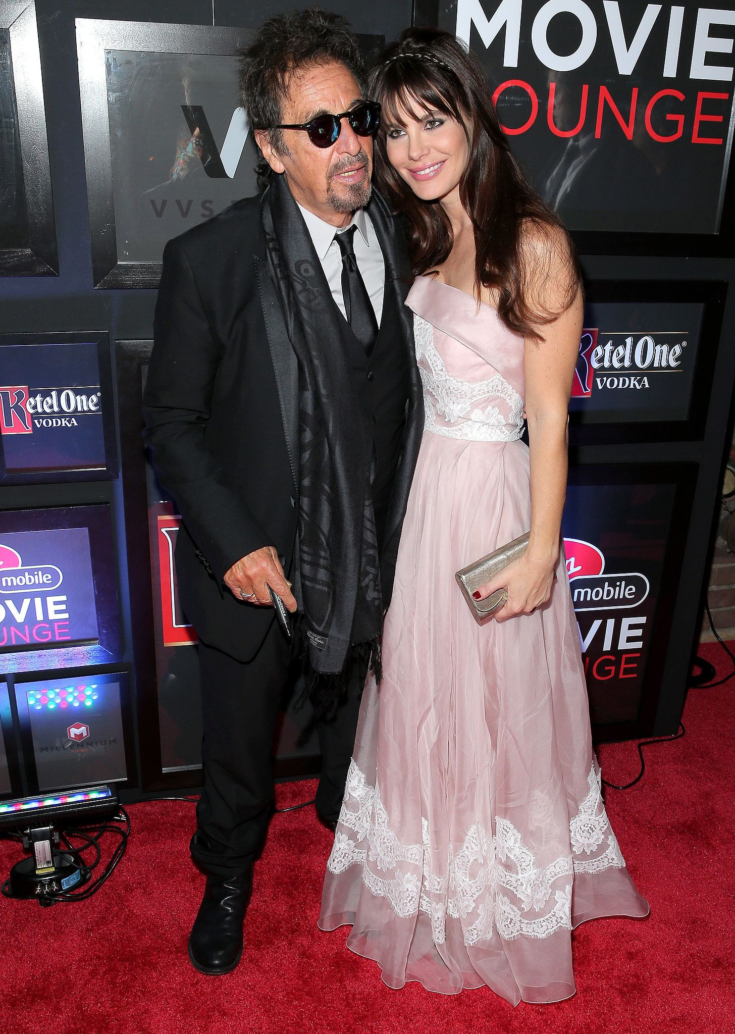 Al pacino cuddled up on the red carpet with his girlfriend lucila al pacino cuddled up on the red carpet with his girlfriend lucila sola at m4hsunfo Gallery