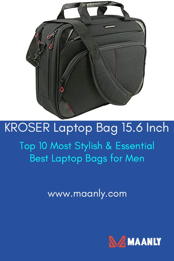 KROSER Laptop Bag 15.6 Inch Laptop Briefcase Laptop Messenger Bag Water