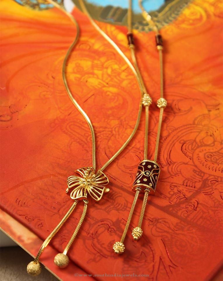 Gold Designer Chains From Manubhai South India Jewels Gold Chain Design Gold Jewelry Fashion Gold Jewelry Simple