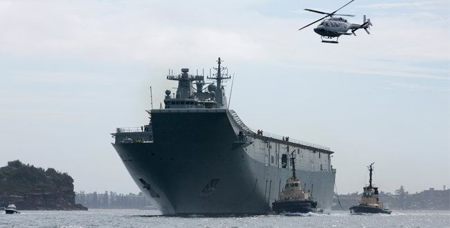 Buque Canberra. | Defensa australiana