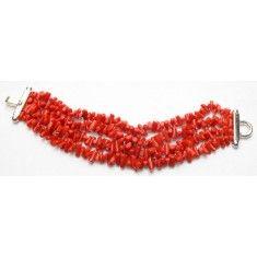 selezione premium 109d8 4d7f5 Gioielli in corallo: bracciale corallo rosso   fai da te ...