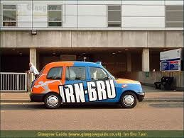 Irn-Bru taxi