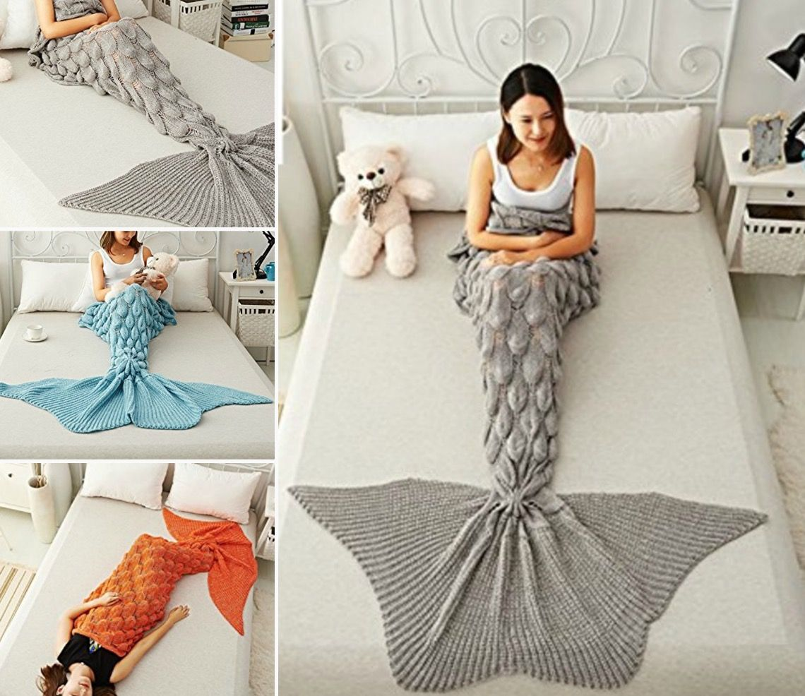 Crochet Mermaid Blanket Tutorial Youtube Video DIY | Cola de sirena ...