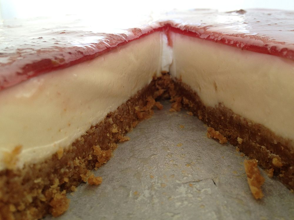 Tarta fresca de queso postres y tarta de queso - Postres con gelatina y leche condensada ...