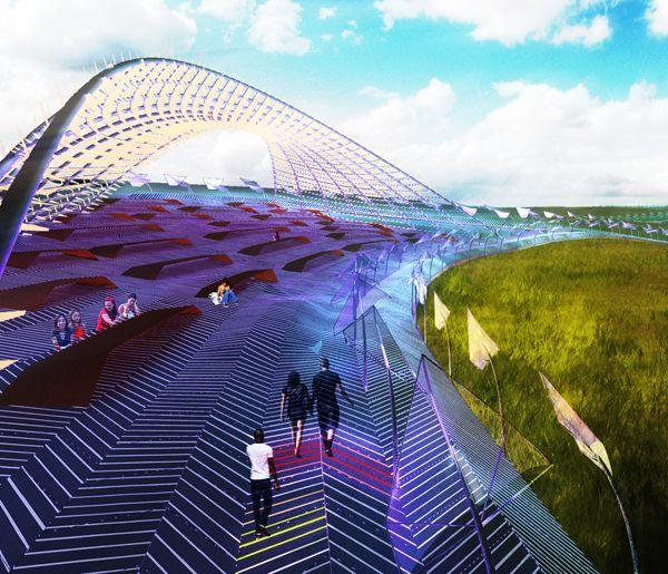 Piezoscape Innovative Landscape Converts Mechanical Movement Into Electricity Evolo Architectu Sustainable Landscaping Architectural Competition Landscape