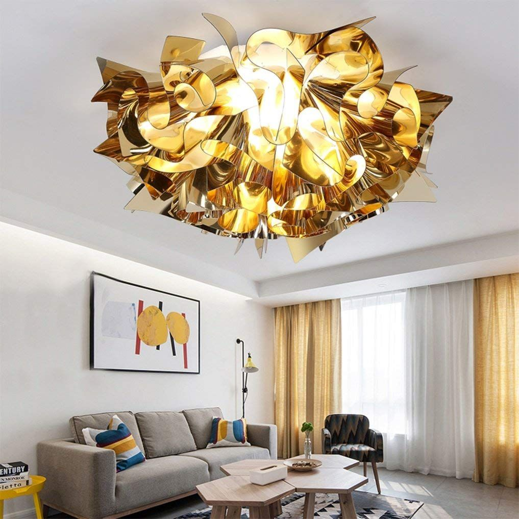 Led 24w Modern Stilvolles Kreativ Design Deckenlampe Gold Blumen