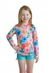such a cute rash guard set..and uv protected!