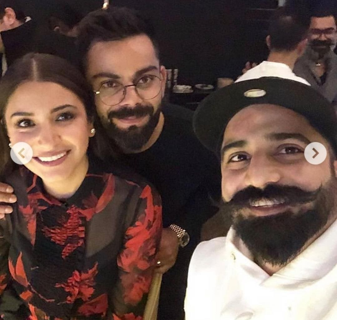 Virushka Virat and anushka, Bollywood stars, Captain hat