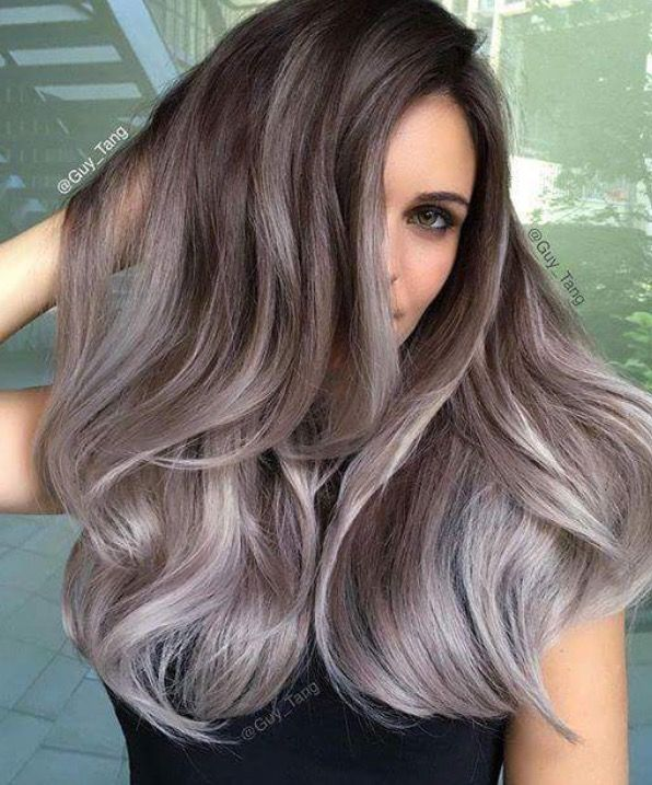 The Best Hairstyle For Round Face Ash Hair Color Hair Styles Ombre Hair