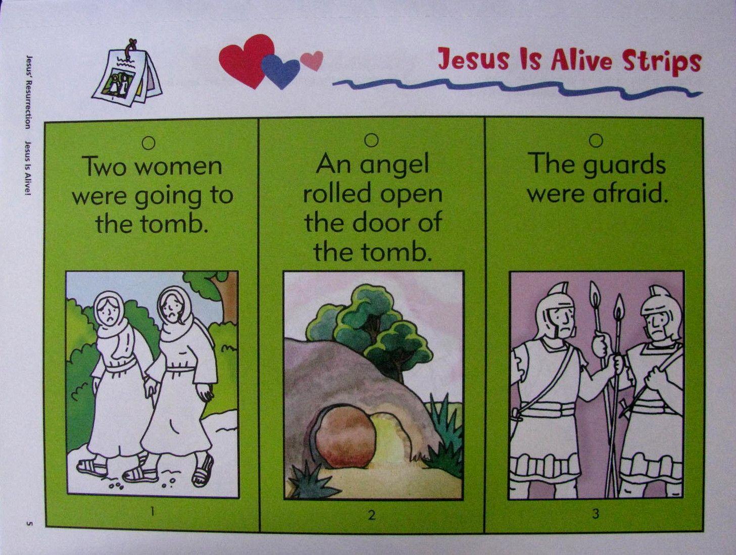 Jezus leeft beeldverhaal 1 / Jesus+esta+vivo+atividade 1 | Bijbel ...