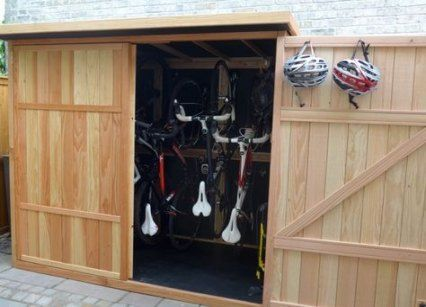 41 Ideas Garden Shed Storage Ideas Bike Store For 2019 Garden Vertical Bike Storage Shed Storage Shed Storage Ideas Bikes