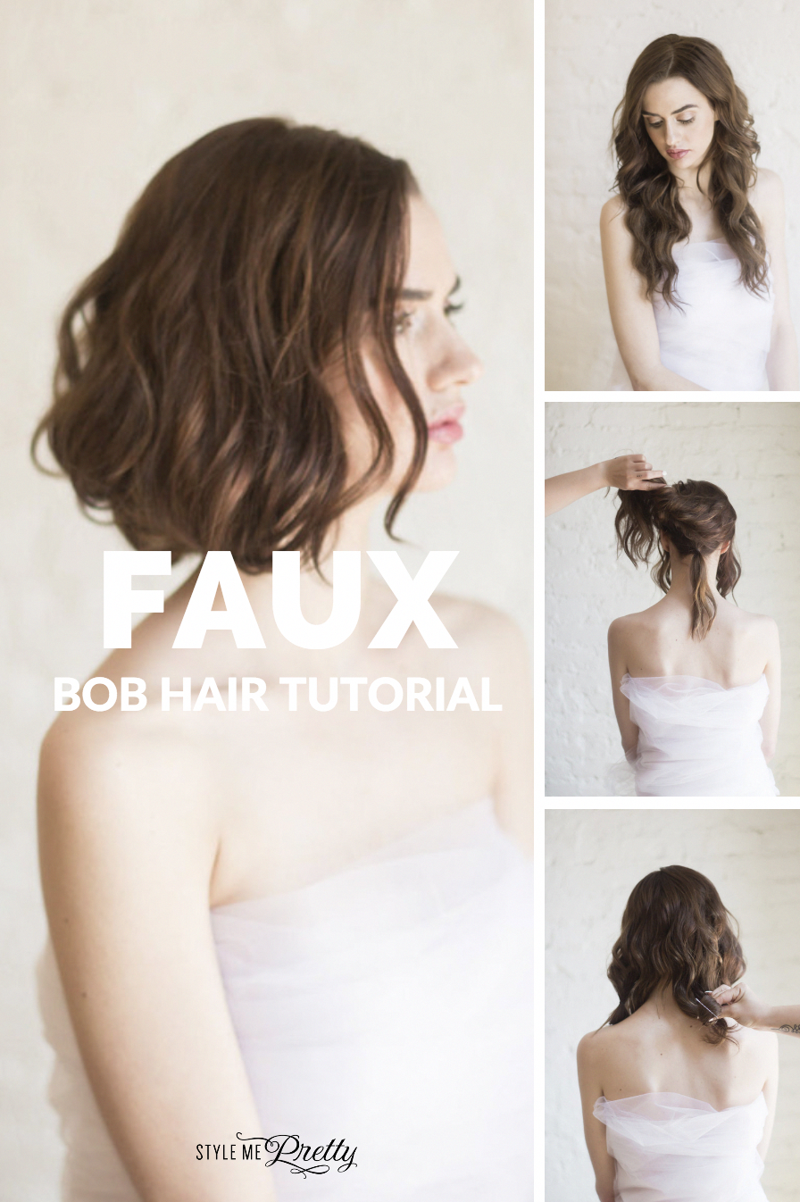 Faux Bob Hair Tutorial Photography You Look Lovely Updostutorials Faux Bob Bob Hairstyles Hair Styles