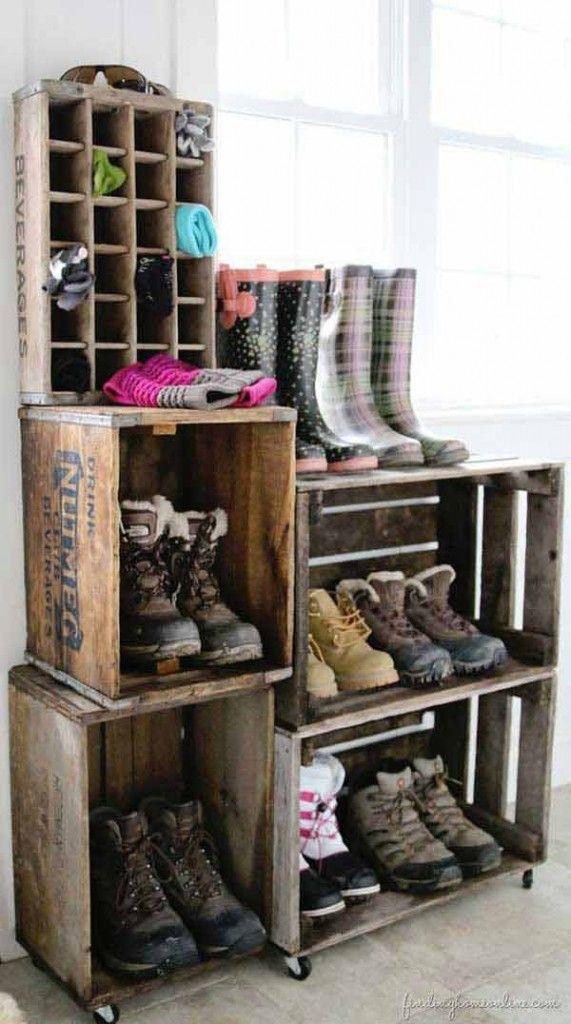 15 rangements pour les chaussures faire soi m me faire soi meme chaussure et faire. Black Bedroom Furniture Sets. Home Design Ideas