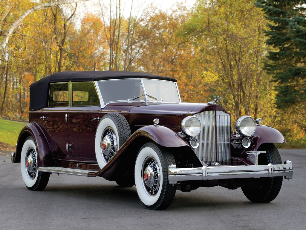 1932 Packard Twin Six Individual Custom Convertible Sedan by ...