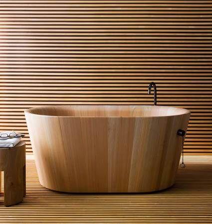 Hinoki Design Wood Tub Wooden Bathtub Wood Bathtub