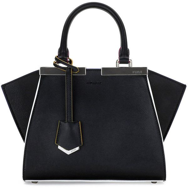 Fendi 3Jours Mini Painted-Edges Tote Bag ($2,630) ❤ liked on Polyvore featuring bags, handbags, tote bags, mini tote, zippered tote bag, handbag purse, purse tote and fendi handbags