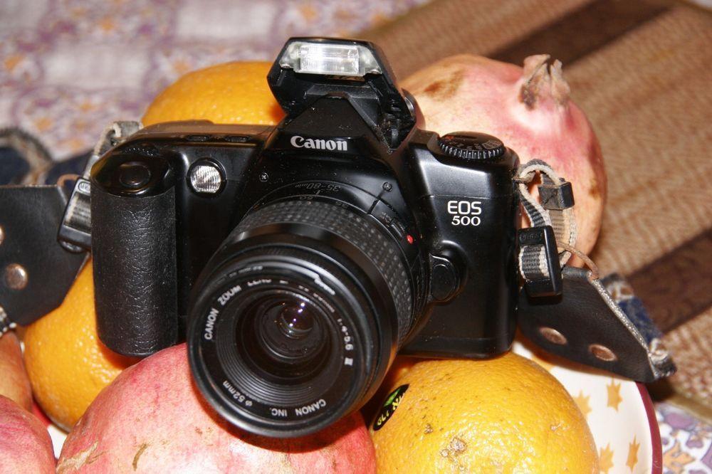 Used Canon Eos 500 35mm Film Slr Camera W Canon Zoom Lens Ef 35 80mm 1l4 5 6 Canon Canon Zoom Lens Canon Eos Slr Film Camera