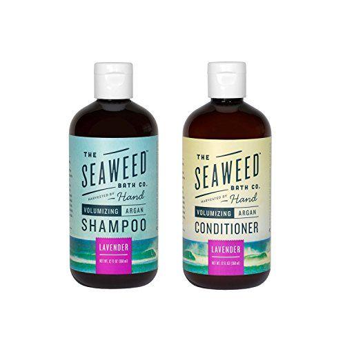 Seaweed Bath Co Volumizing Lavender Organic Natural Shampoo And Conditioner Bundle With Natural Shampoo And Conditioner Aloe Vera Essential Oil Natural Shampoo