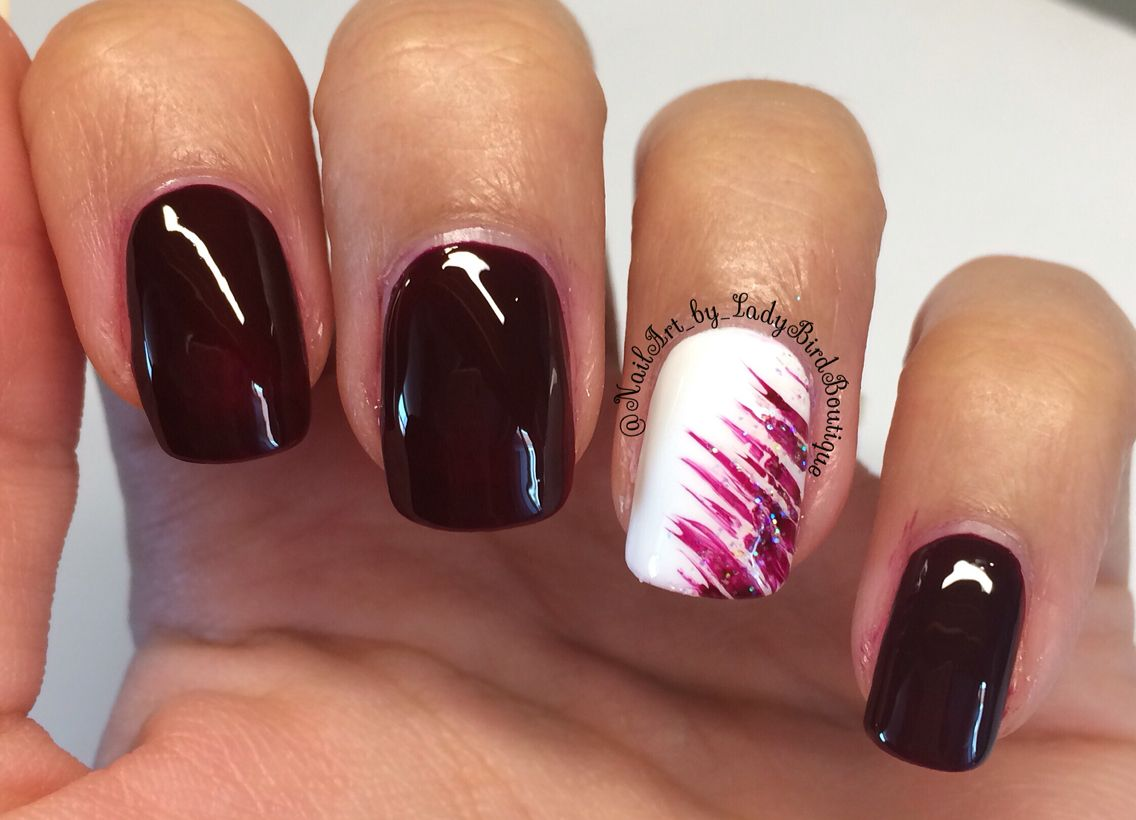 Nail Art. Opi nail polish. Dark red nails. Sexy nails. Instagram ...