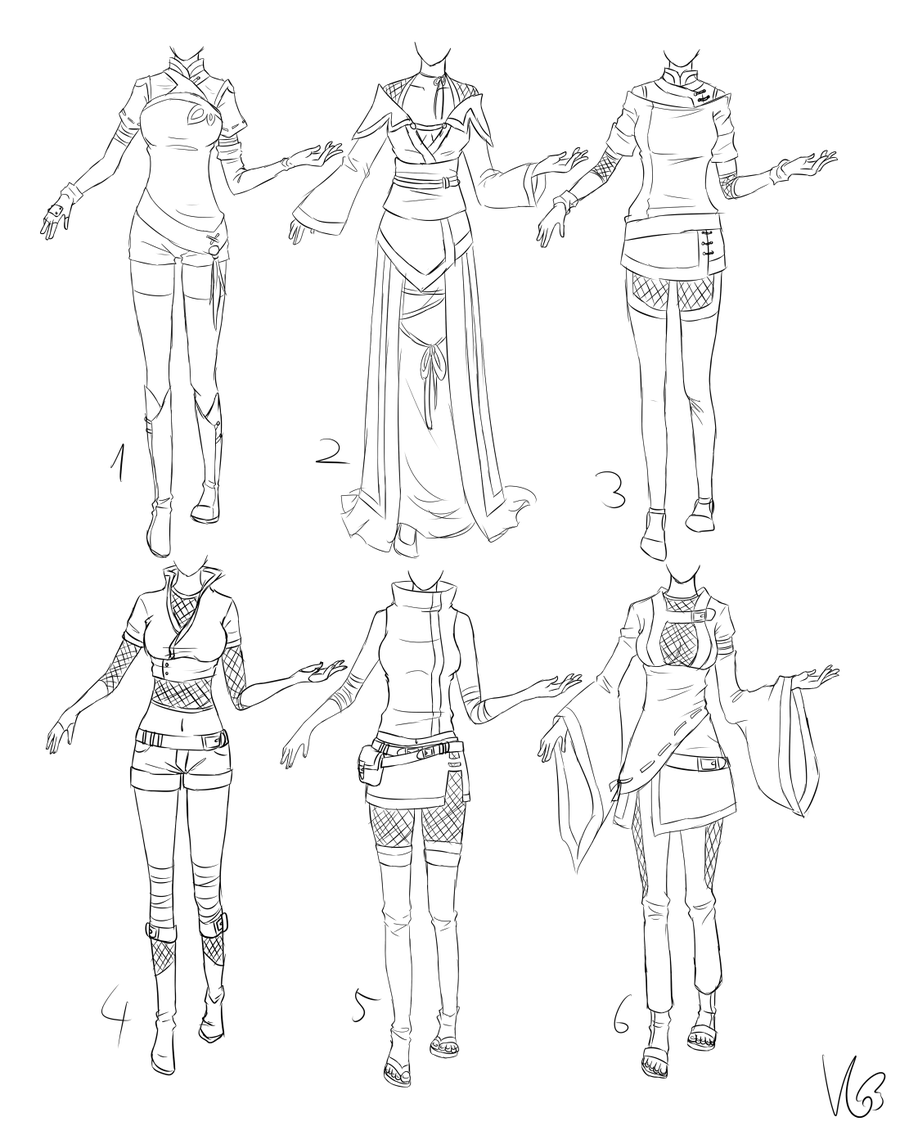 Ninja ish outfits by kohane chan clothes desing - Comment dessiner un ninja ...