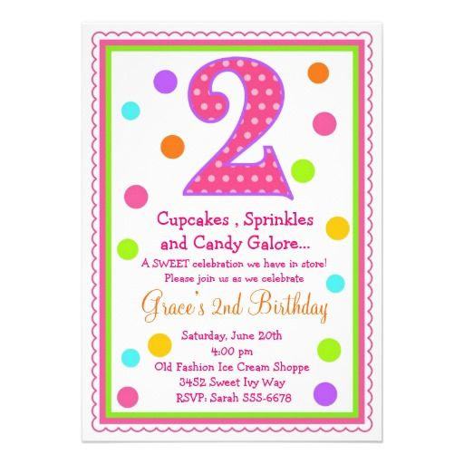 Sweet Surprise 2nd Birthday Invitation Pinterest Invitation