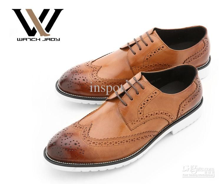 mens-wing-tip-dress-shoes-leather-lace-up.jpg (750×625) | Men's ...