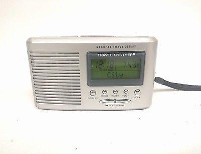 Sharper Image Travel Sound Soother 20 Sound Si601 Alarm Clock