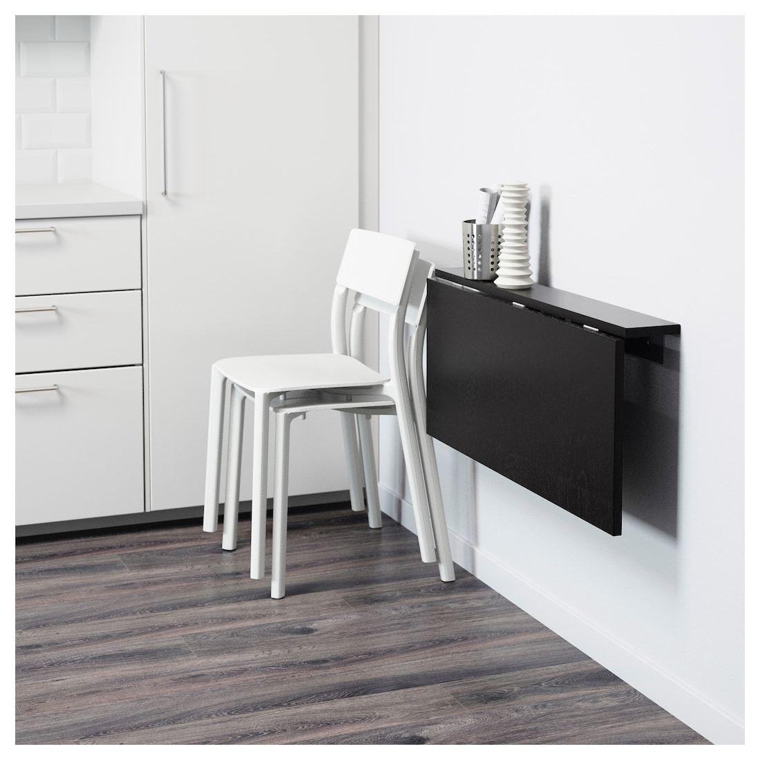 Bjursta Wall Mounted Drop Leaf Table Brown Black Ikea Drop Leaf Table Fold Down Desk Fold Down Table
