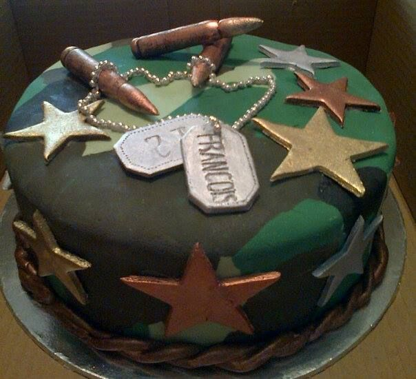 military themed cakemade by lerrinsweetart SWEETART