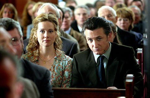 Still of Sean Penn and Laura Linney in Mystic River