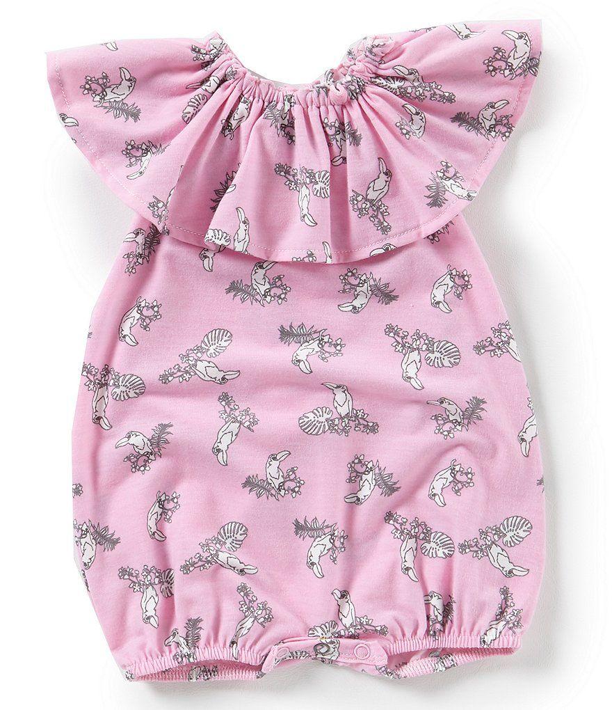 198527c31388 Jessica Simpson Baby Girls Newborn-9 Months Toucan Print Romper ...