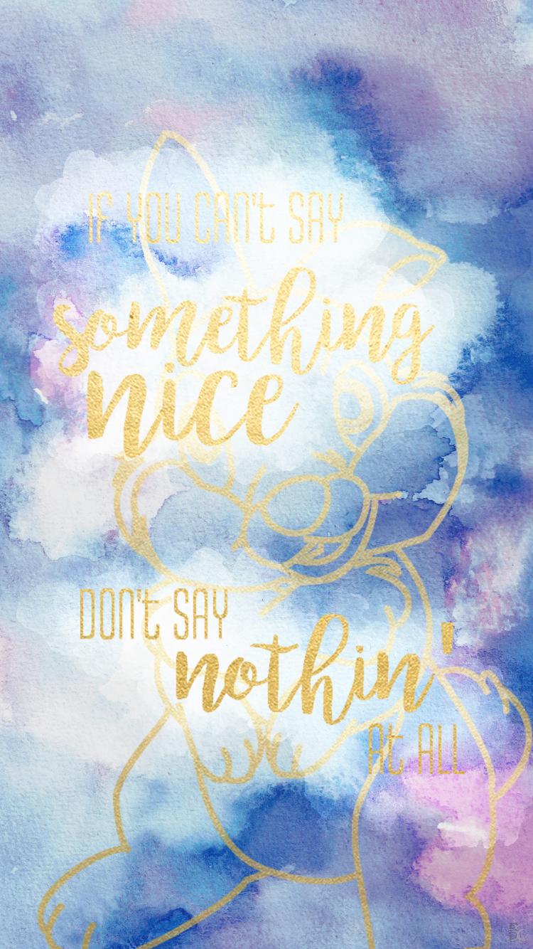 Britt Emily Art On Behance Disney Bambi Cute Wallpapers Quotes Disney Wallpaper Wallpaper Iphone Cute