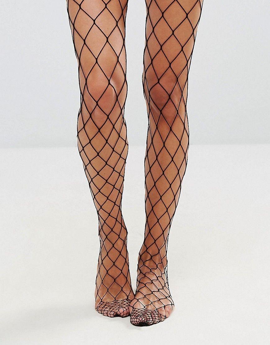 bf29570de3acc DESIGN oversized fishnet tights | Girl | Fishnet tights, Oversized ...